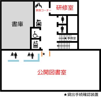 埼玉県立久喜図書館 2階