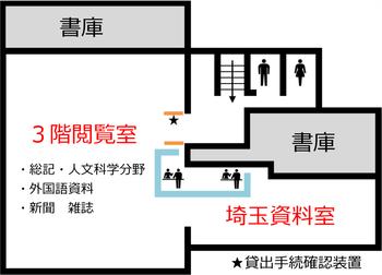 埼玉県立熊谷図書館3階