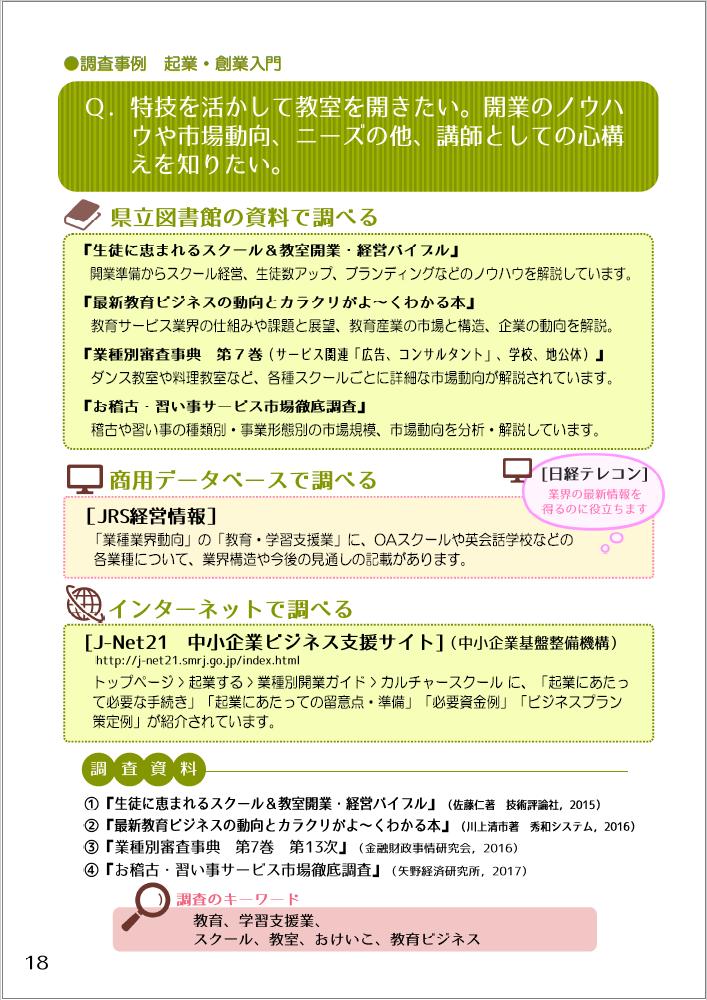 『仕事に役立つリサーチガイド@埼玉』事例
